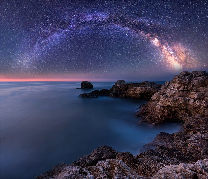 Canvas Print - Milky Way Over The Sea