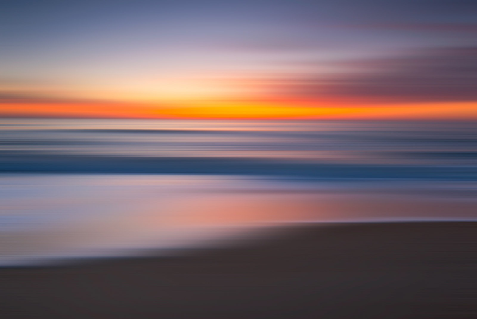 Canvas Print - Seascape Motion Blur