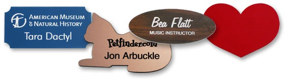 custom shaped plastic name tag