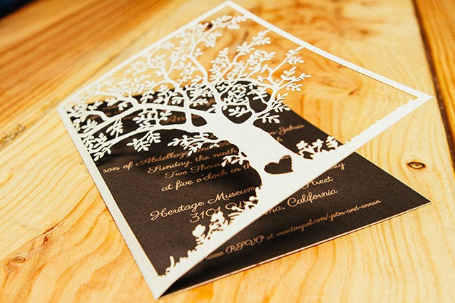 paper laser cutting for invitations