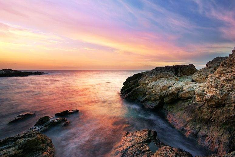 Canvas Print - Sunset Over Sea
