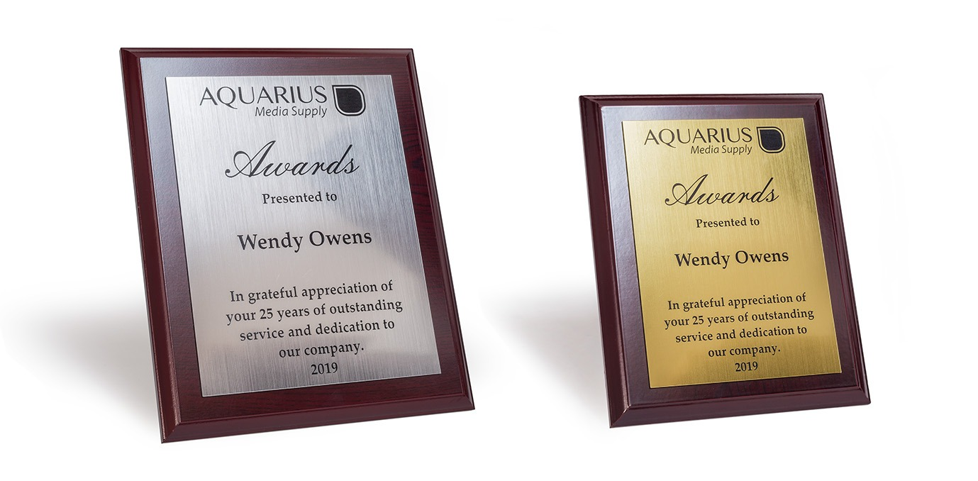 engraved plaque that can be used for a wall plaque