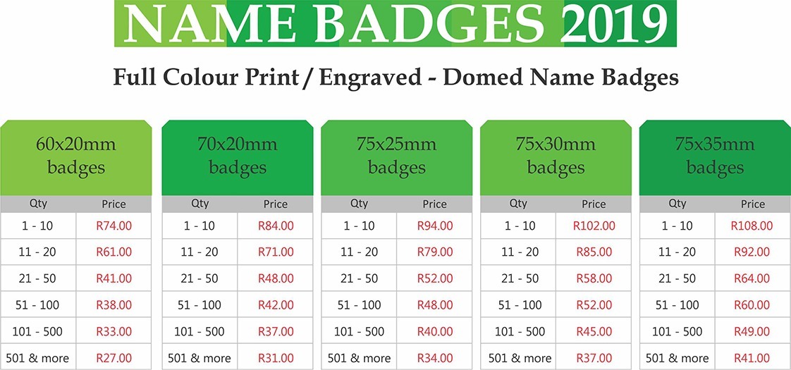 domed magnetic name badges